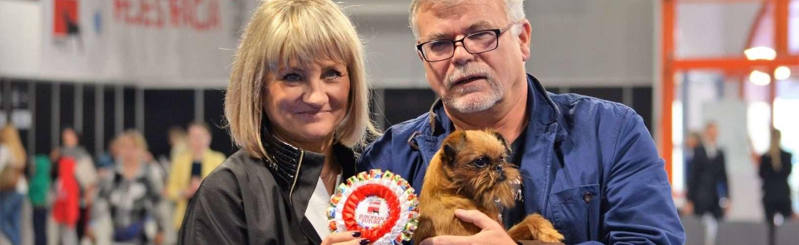 Gryfonik brukselski Hanka CACIB EURO DOG SHOW Warszawa